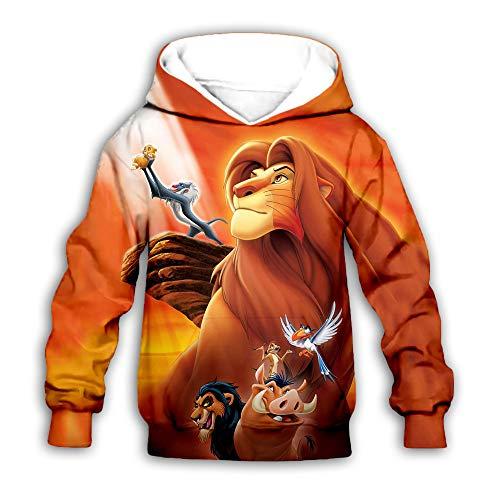 luozeshu König der Löwen Hoodie Sweater König der Löwen Movie Surrounding 3D Print Pullover Casual Hoodie Sweatshirt Kinder Tops Kleidung für Mädchen Jungen