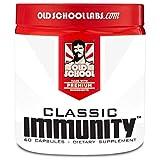 Old School Labs Classic Immunity - Daily Immunity Support - Echinacea, Vitamin C & Vitamin D, Elderberry, Magnesium & Zinc Supplement - Immunity Booster & Stress Relief for Athletes - 60 Veggie Caps