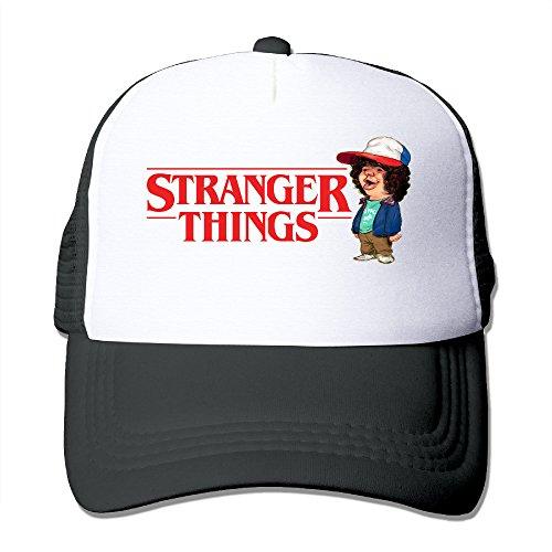 Huseki Stranger Things Adjustable Mesh Trunk Hat For Unisex Black