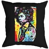 Jimmy-Hendrix-Kissen/Deko-Kissen mit Füllung/Neon-Druck: Hendrix - cooler Look