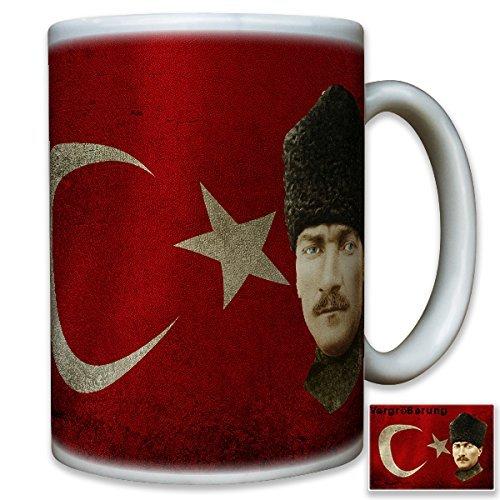 Mustafa Kemal Atatürk Republik Türkei Präsident Osmanisches Reich Türkiye Cumhuriyeti Portrait Gemälde Fahne Flagge Flag - Tasse Kaffee Becher #10516