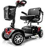 BUZZAROUND EX Extreme 4-Wheel Heavy Duty Long Range Travel Scooter, Red, 18-Inch Seat