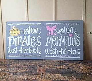 WoodenSign Kids Nautical Bathroom Wood Signs 12