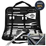 VPCOK 33 Pieces BBQ Tools Set 33-in-1 BBQ Accessories Barbecue Utensils Stainless Steel Barbecue Tool Set...