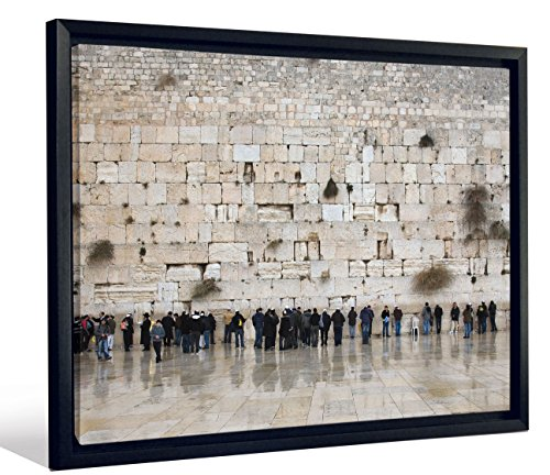 JP London Feature 2 Inch Thick Heavyweight Framed Stretched Canvas Art Mural Wailing Western Wall Temple Mount at 40