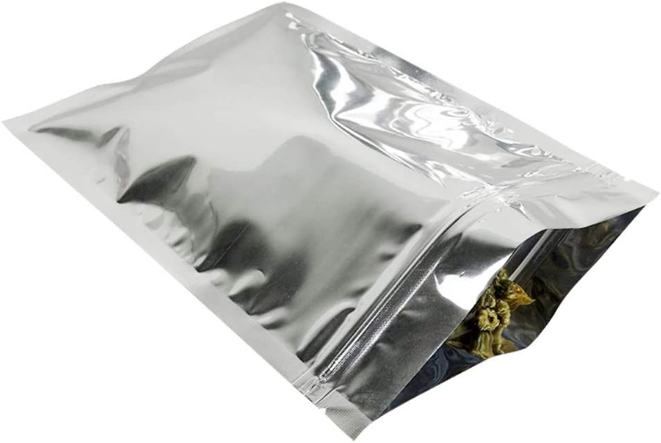 Resealable Flat Ziplock Bags Silver Mylar Aluminum High quality new Foil low-pricing Pouches