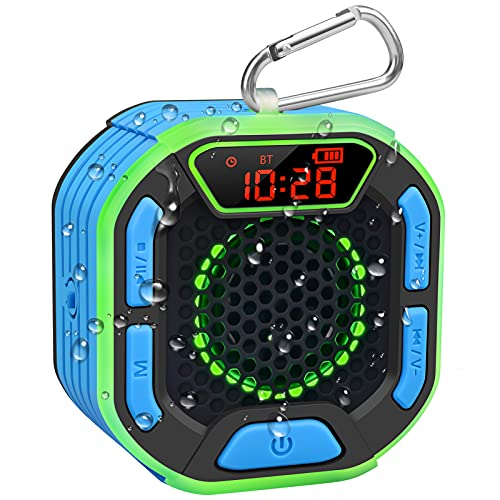 DuoTen Shower Speaker, IPX7 Waterproof Portable Bluetooth...
