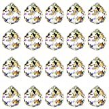 HONGECB Bola de Cristal Prisma, Bola De Cristal Feng Shui Colgante, Transparente Bola de Cristal Prisma Colgante, para Lámpara de Techo, Feng Shui, Casa de la Boda, Decoraciones de Oficina, 20mm/20pcs