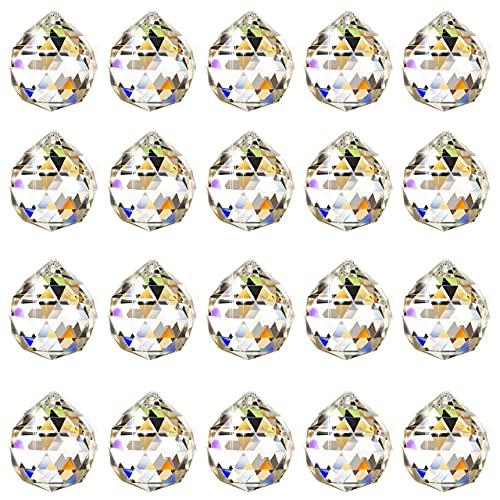 HONGECB Bola de Cristal Prisma, Bola De Cristal Feng Shui Colgante, Transparente...