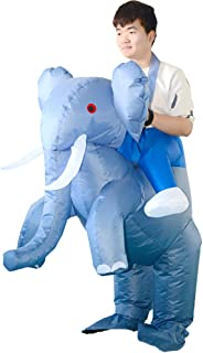 HUAYUARTS Inflatable Costume Gray Ride on Elephant Game Cloth Adult Funny Blow up Suit Halloween Cosplay Gift, Free Size