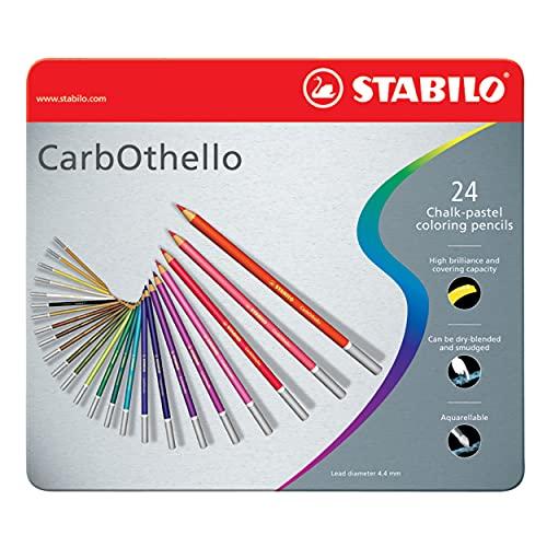 STABILO CarbOthello Pastel Pencil Set, 24-Color