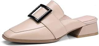 Nine Seven Women's Leather RoundToe Lowheel Mule