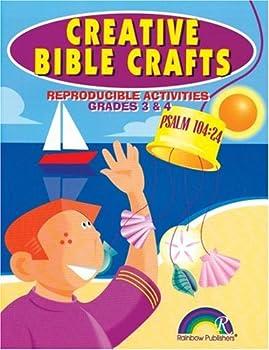 Paperback Creative Bible Crafts Grades 3-4 Book