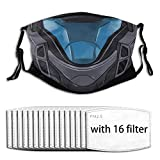 Multifunctional Sports Seamless Printed Halo 3 - The Rookie ODST Helmet Sunscreen Windproof and Dustproof Mask