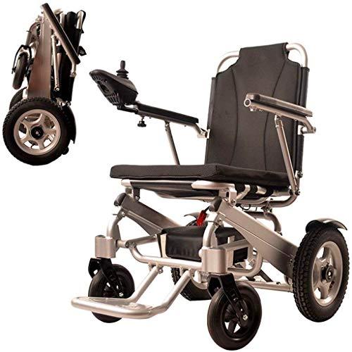 Elektrorollstuhl Klappbaren tragbaren Elektrorollstuhls, Leichtgewicht Doppelfunktion faltbare Elektro-Rollstuhl, Drive mit Electric Power oder zur Verwendung als manuelle Rollstuhl Bequemes und siche