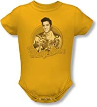 Elvis Presley Boys' Teddy Bear Bodysuit Gold