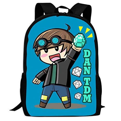 Not Applicable Dan-TD-M School Backpack Children Cool Lightweight Bookbags Teenage Bag
