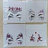 Europa y los Estados Unidos tendencia tatuaje pegatinas adhesivo de taladro facial pegatinas de pecho set pegatinas de cejas adhesivos de resina a