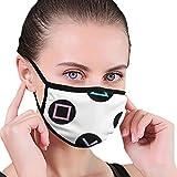 Mundmaske Wiederverwendbare Mundbedeckung Spielen mit Playstation Controller Tasten Staubdicht Sport Gesichtsabdeckung Bandana für Outdoor