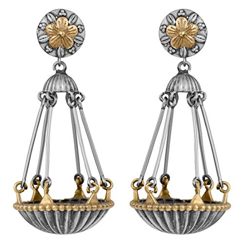 Aheli Antique Vintage Weighing Scale Design Boho Oxidized Dangle Jhumka Earrings Indian Fashion Jewelry for Women Girls