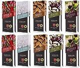 Sicilia Bedda - CIOCCOLATO DI MODICA IGP - 2 Barrette di Cioccolato al Pistacchio, alla Mandorla, al Nero d'Avola, Al Sale di Trapani, al Peperoncino - 1 KG di Cioccolata di Modica - SENZA GLUTINE