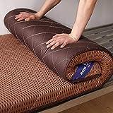 YWYW Alfombrilla de Tatami para Dormir colchón de futón de Suelo Grueso y Suave Rollo de Cama japonés colchón para Dormitorio de Estudiantes colchón Plegable para Invitados marrón 120x200cm