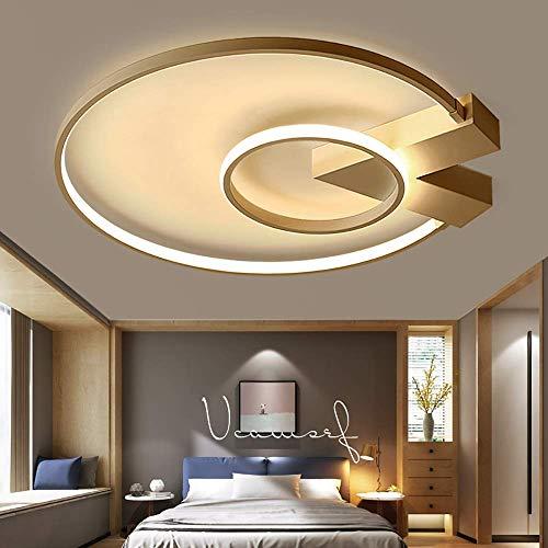 LHQ-HQ Iluminación moderna simple post moderno creativo LED Master Dormitorio lámpara romántico cálido estudio personalidad iluminación techo lámpara salón iluminación