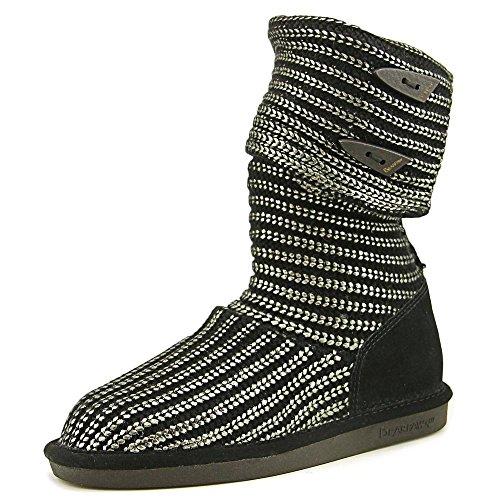 BEARPAW Women's Knitallic Snow Boot, Gunmetal, 9 M US