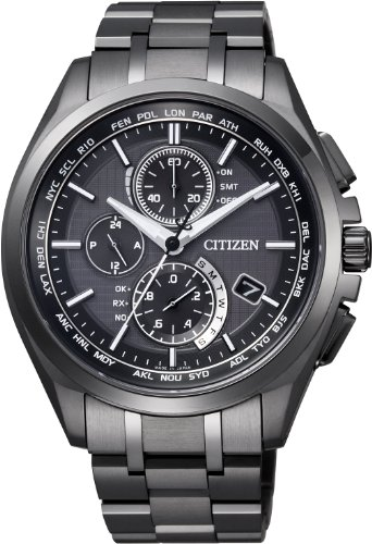 CITIZEN ATTESA Eco-Drive radio clock direct flight DLC specification AT8044-56E Men's  (Japan Domestic genuine products)