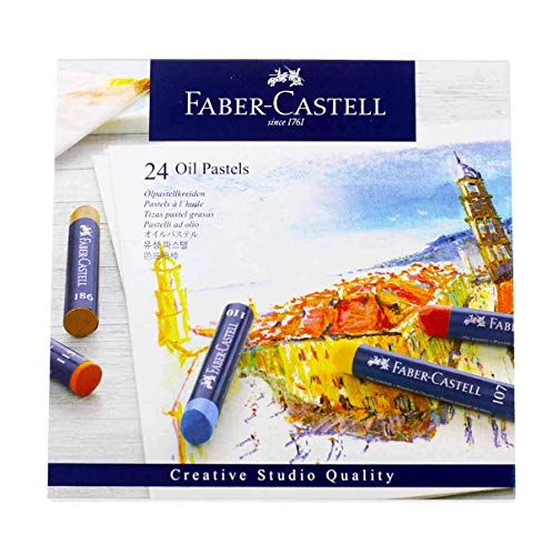 FaberCastel FC127024 Creative Studio Oil Pastel Crayons 24 Pack Assorted