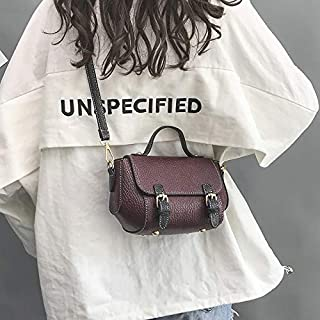 HAWEEL Anti-Theft Classic Retro Messenger Travel Casual PU Shoulder Bag Ladies Handbag Messenger Bag (Black) Sling Crossbody Mini Purse One Size