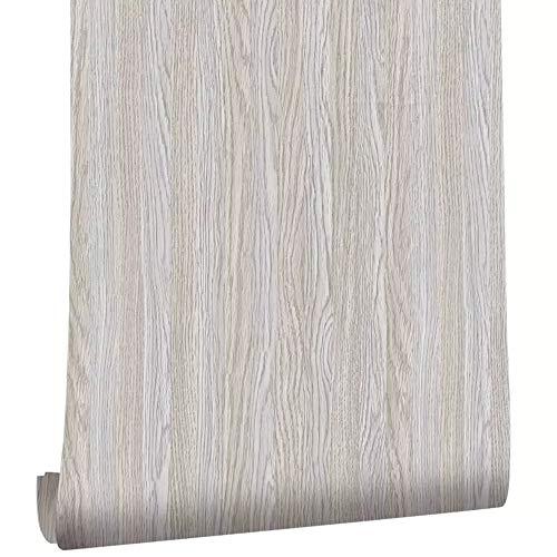 Ordioy Vinilo Gris Madera Papel Contacto Autoadhesivo Madera PVC Papel Tapiz Impermeable Fácil De Limpiar Escritorio Decoración De La Decoración Etiqueta,3 PCS 0.45 * 6M
