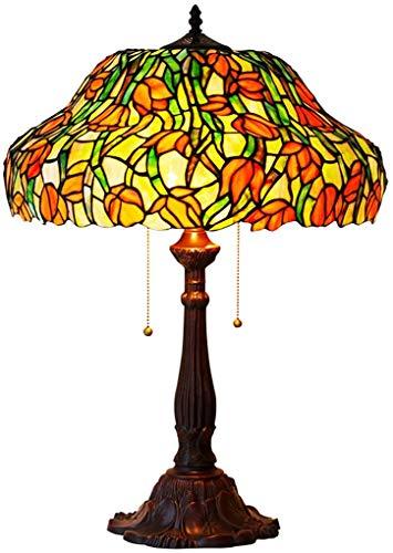 Lámpara De Escritorio Led De Estilo Tiffany con Cadenas, Lámpara De Mesa...