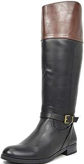 TOETOS Women`s Knee High Winter Riding Wide Calf Boots