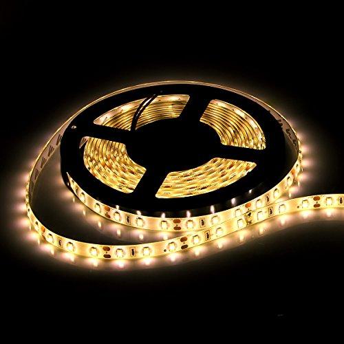 SUPERNIGHT(TM) 5630 300Led SMD Warm White Cuttable LED Light Strip Flexible Strip Led Light Waterproof Indoor & Outdoor Xmas Decorative Light Strip 5M 16.4ft DC 12V