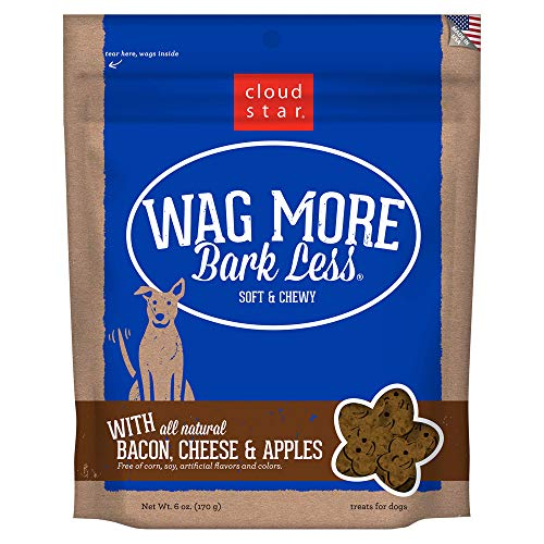 Cloud Star WagCloud Star Wag More Bark Less Original Soft & Chewy Dog Treats, Corn & Soy Free, Baked in USA More Bark Less Original Soft & Chewy Dog Treats, 6oz