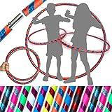 Flames 'N Games Hula Hoops de Kid - ¡Hula Hoops para niños de Calidad ponderada! ¡Ideal para Hacer Ejercicio, Bailar, Hacer Ejercicio y divertirse! Mismo día de despacho.! (Naranjo/Azul Rutilar)