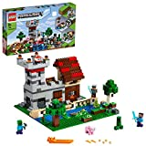 LEGO Minecraft Crafting Box 3.0, Kit 2 in 1 Castello Fortezza Fattoria con Figure di Steve, Alex e Creeper, 21161