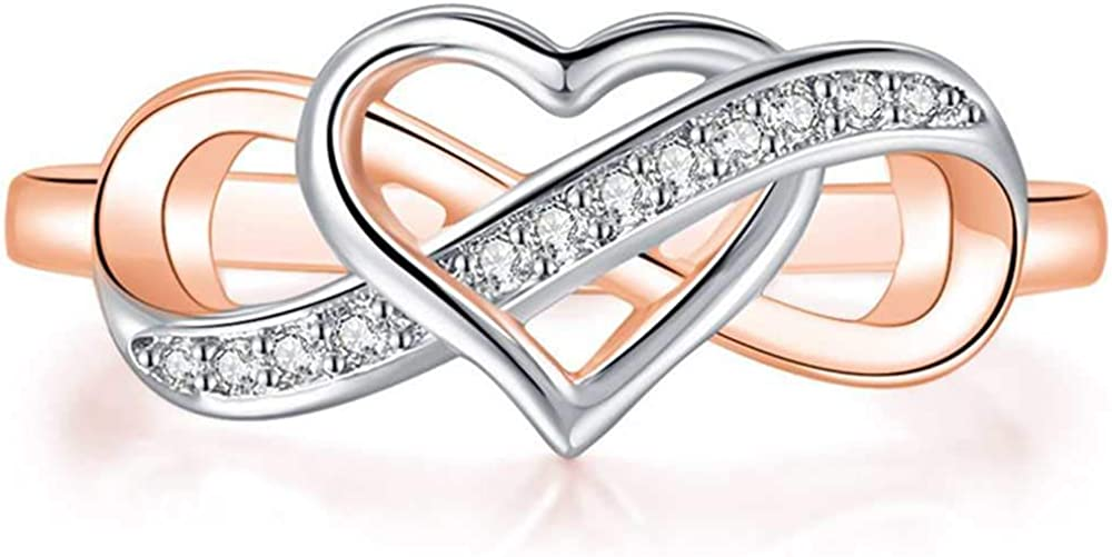 Jude Jewelers Silver Directly Year-end annual account managed store Rose Gold Promis Style Heart Infinity Shape