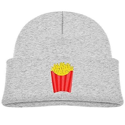 Daibing Bonnet tricoté pour enfant avec motif de frites - Gris - taille unique