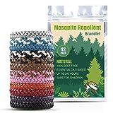 Everwell Mückenschutz Armband für Erwachsene und Kinder, Mückenarmbänder Mücken Armband 100% Natürlicher Pflanzenextrakt Moskito Armband Geeignet für Camping Klettern Outdoor Indoor