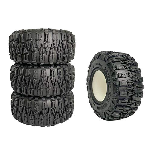 2.2' Rubber Rock RC Crawler M/T RC Tire OD 120mm (4pcs) for 1/10 Axial SCX10 II Traxxas RC Truck