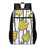 Schulrucksack Bananenkuchen Bananen Früchte, Schultaschen Teenager Rucksack Schultasche Schulrucksäcke Backpack für Damen Herren Junge Mädchen 15,6 Zoll Notebook