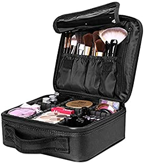 Travel Makeup Case, Cosmetic Organizer Bag Makeup Train Case With Compartment Makeup Bursh Set Storage Bag
