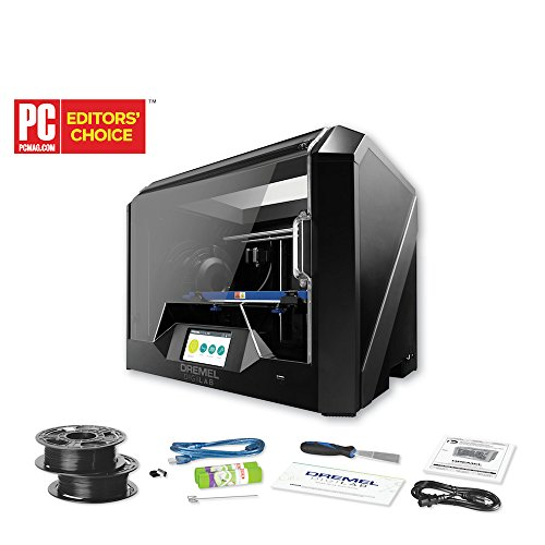 Dremel Digilab 3D45 Award Winning 3D Printer Kit with Filament and Starter Accessories, Idea Builder with Heated Build Plate to Print Nylon, ECO ABS, PETG, PLA at 50 Micron Resolution