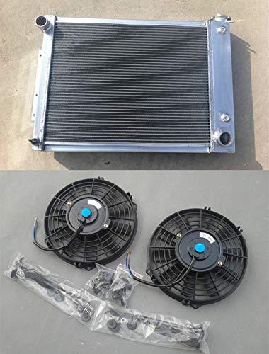 Radiador de aluminio de 3 filas + ventilador 67-69 Chevy Camaro/PontiacFIREBIRD T/A V8 5.3L-5.7L