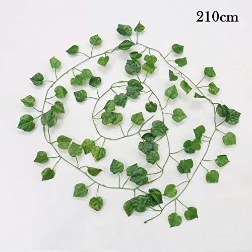 Terraberk Artificial Plants Creeper Green Leaf Ivy Vine for Home, Wedding Decor, DIY - Pack: C