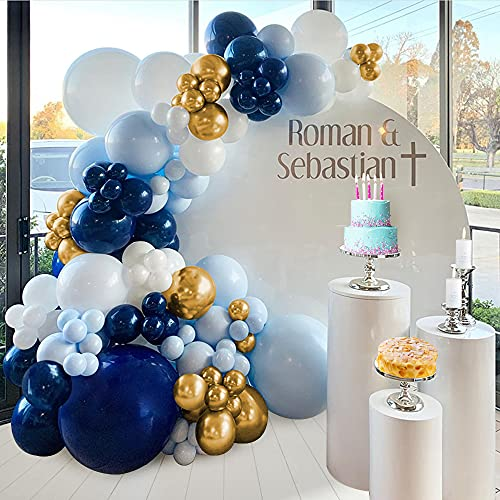 Balloon Garland Arch Kit Blue, SPECOOL Wedding Decoration Balloon Blue and Gold, Balloon Garland Kit with Balloon Accessories for Birthday Party Baby Shower Anniversary Wedding Decoration
