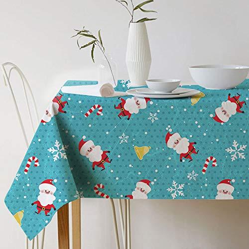 XXDD Toalha de mesa do Papai Noel Toalha de mesa impressa para a decoração da casa Capa para lareira A3 135x200cm