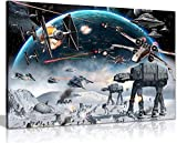 Stampa artistica su tela in formato A1, motivo: Guerre Stellari, con cornice, 50 x 75 cm